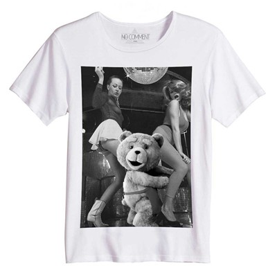 NO COMMENT PARIS Ted disco vintage - Top/tee-shirt - blanc