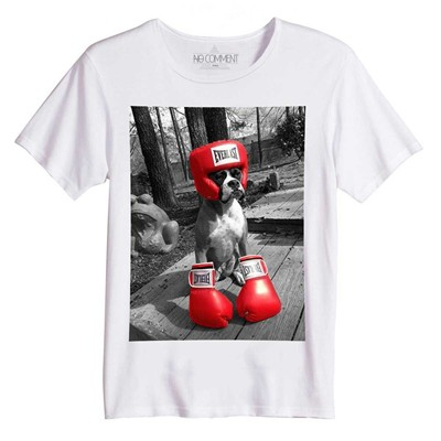 boxer dog - Top/tee-shirt - blanc