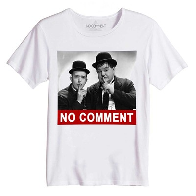 NO COMMENT PARIS Laurel et hardy - Top/tee-shirt - blanc