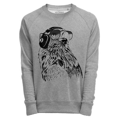 NO COMMENT PARIS eagle - Sweat - gris chine