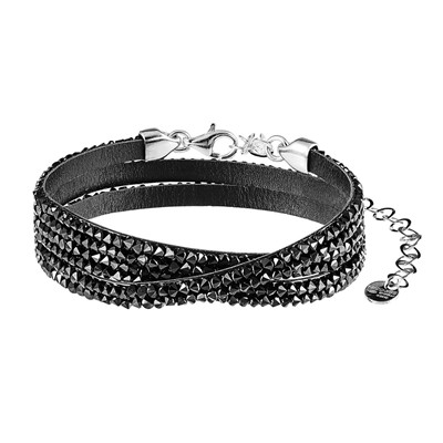 Bracelet multi-rangs - noir