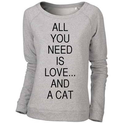 All you need - Sweat-shirt - gris chine
