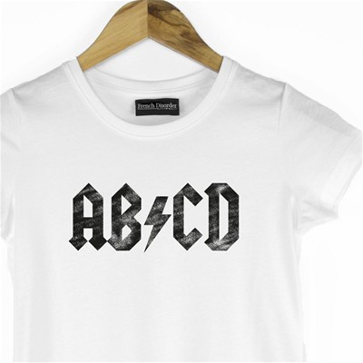 FRENCH DISORDER ABCD - T-shirt - blanc