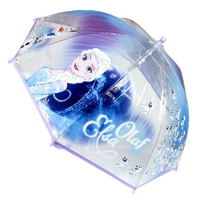 DISNEY FROZEN BY CERDA Elsa & Olaf - Parapluie droit  cloche enfant - transparent