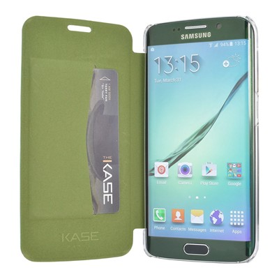 THE KASE Galaxy S6 Edge - Coque - vert