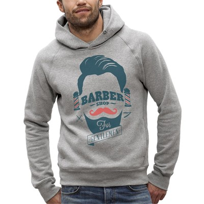 ARTECITA Barber Shop - Sweat à capuche - gris chine