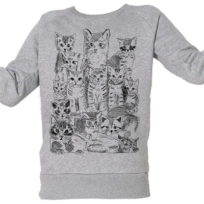ARTECITA Chatons - Top - gris chine