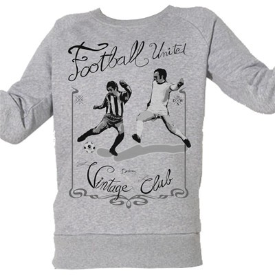 ARTECITA Football Vintage - Top/tee-shirt - gris chine