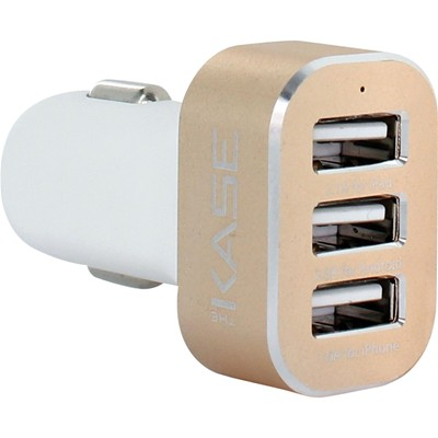 THE KASE Smartphones et Tablettes - Chargeur allume-cigare triple USB - or