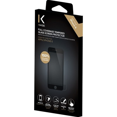 THE KASE iPhone 6 + - Protection d'écran en verre trempé - noir