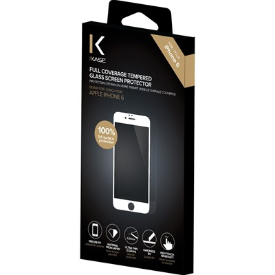 THE KASE iPhone 6 + - Protection d'écran en verre trempé - blanc
