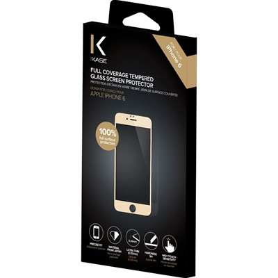 THE KASE iPhone 6 + - Protection d'écran en verre trempé - or