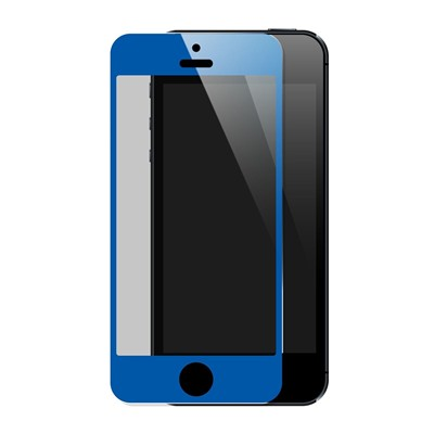 THE KASE iPhone 5/5S/5C - Protection écran en verre trempé - bleu