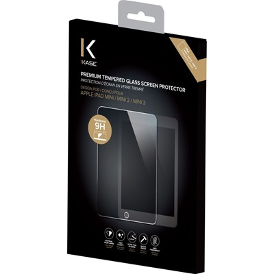 THE KASE iPad mini/ mini 2/ mini 3 - Protection d'écran en verre trempé - transparent