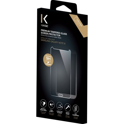 THE KASE Samsung Galaxy Note 3 - Protection d'écran en verre trempé - transparent