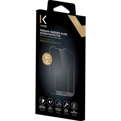 THE KASE Samsung Galaxy S4 - Protection d'écran en verre trempé - transparent