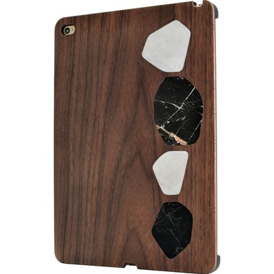 THE KASE Naturalista - Coque mabre-bois Noyer pour Apple iPad Air 2, - marron