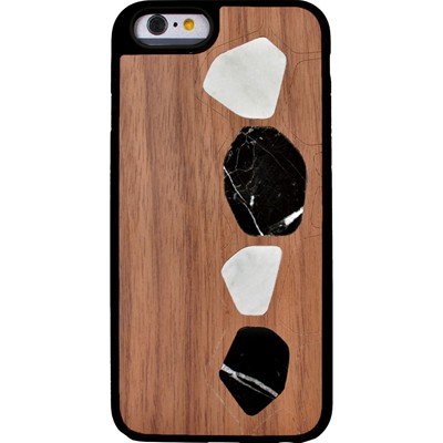 THE KASE Naturalista - Coque mabre-bois Noyer pour Apple iPhone 6 - marron