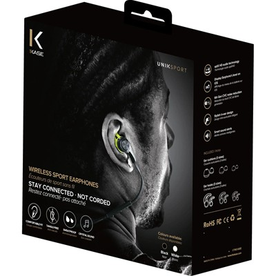 THE KASE Sport - Ecouteurs Bluetooth - blanc