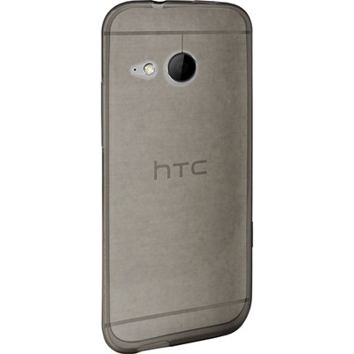 THE KASE Coque silicone pour HTC One M8 mini 2, Gris Transparent - gris