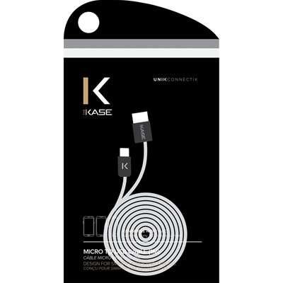 THE KASE Android - Câble plat - blanc