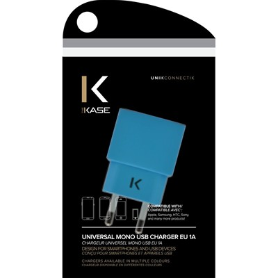 THE KASE Apple/Samsung/HTC/Sony et plus - Chargeur universel - bleu