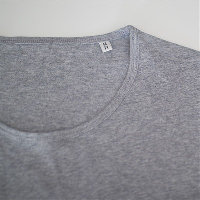 BOULBAR Point par point - T-shirt homme coton bio - gris chine
