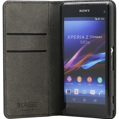 THE KASE Sony Xperia Z1 - Etui - noir