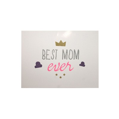 THE COOL COMPANY Best Mom Ever - Affiche - blanc