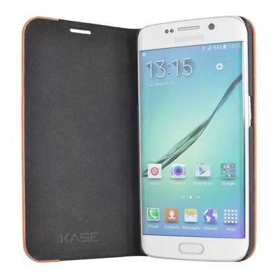 THE KASE Galaxy S6 Edge - Coque - marron