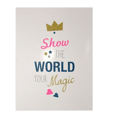 THE COOL COMPANY Show The World Your Magic - Affiche - blanc