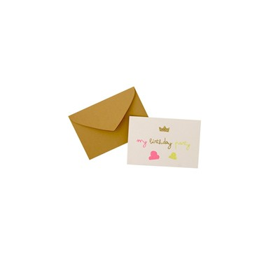 THE COOL COMPANY Lot de 6 Invitations - Kid Fille - blanc