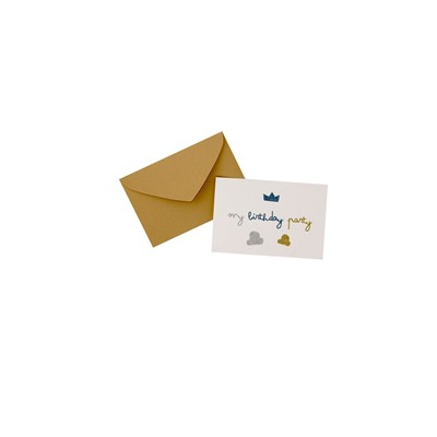 THE COOL COMPANY Kid Garçon - Lot de 6 Invitations - blanc