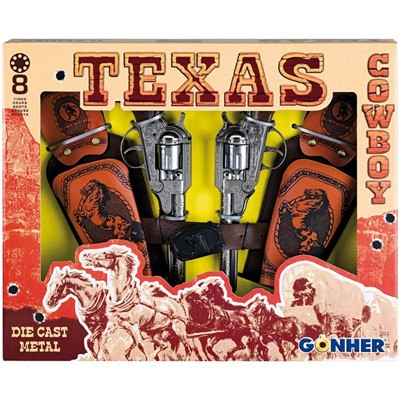 GONHER Coffret Texas - Lot de 2 pistolets - multicolore