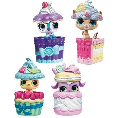 HASBRO Petshop cache cache - Lot de 4 figurines - multicolore
