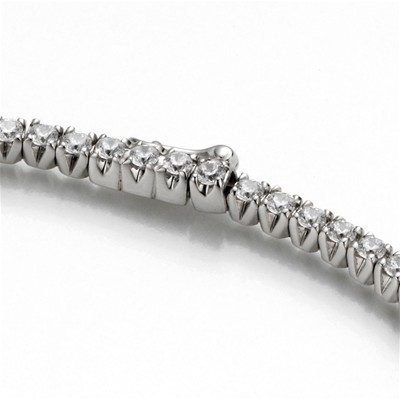 Bracelet en or avec diamants 0.66 carat - blanc
