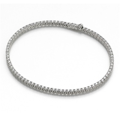 Bracelet en or avec diamants 5.9 carats - blanc
