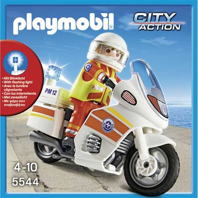 PLAYMOBIL City Action - Sauveteur avec moto - multicolore