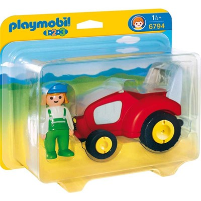 PLAYMOBIL 123 - Agricultrice avec tracteur - multicolore