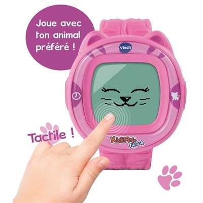 VTECH Montre KidiPet Tik Tak Friend - Chat Tigré - Jeux électronique - multicolore