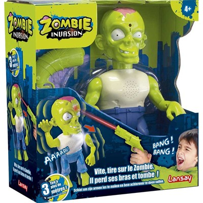 Lansay Zombie invasion - pistolet à infrarouges et figurine - multicolore