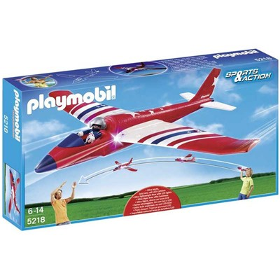 PLAYMOBIL Sports et action - Planeur de competition - multicolore