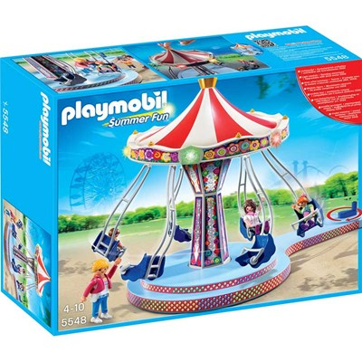 PLAYMOBIL Summer fun - Manège de chaises volantes - multicolore