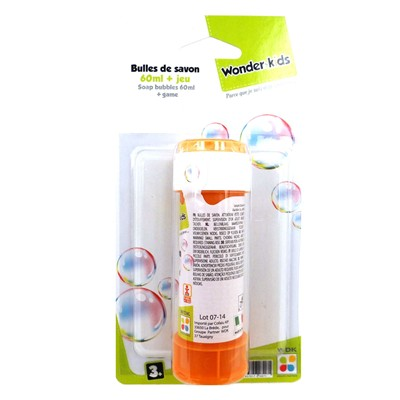 WONDERKIDS Tube à bulles - 60 ml