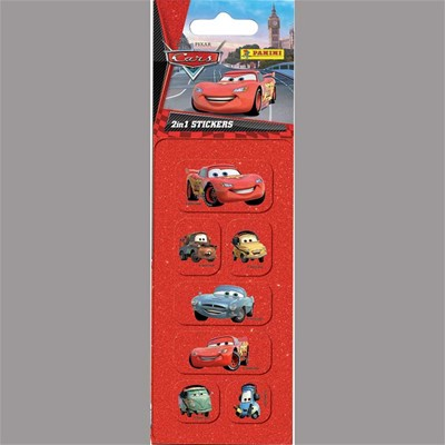 PANINI Cars - Mini Stickers 2 en 1 - multicolore