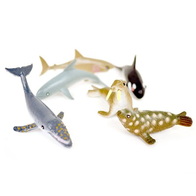 WONDERKIDS Assortiment de 6 animaux de la mer - multicolore