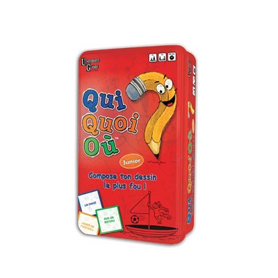 "UNIVERSITY GAMES EUROPE Jeu ""Qui, Quoi, Ou"" - multicolore"