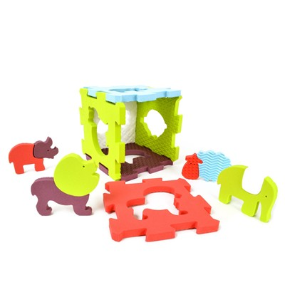 LUDI 6 baby dalles animaux - multicolore