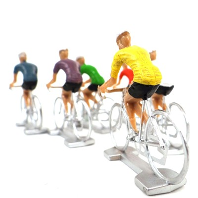 WONDERKIDS Assortiment de 6 coureurs cyclistes - multicolore