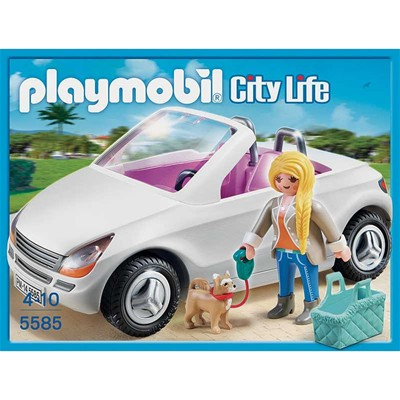 PLAYMOBIL City life - Voiture cabriolet - multicolore